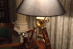 Freemason lamp at the Mystery Hotel