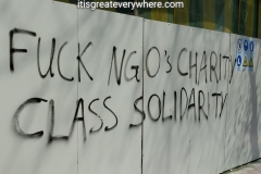 F*ck NGO's charity - Class solidarity