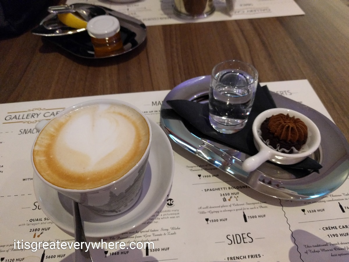 Coffee and tea at MGallery's cafe