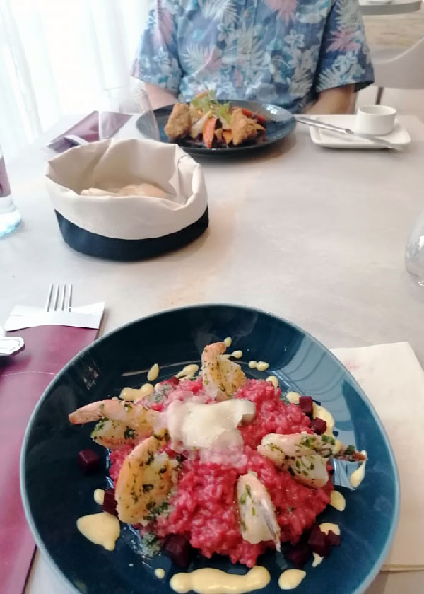 Beetroot risotto - Zsolnay Cafe